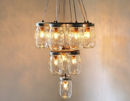 DIY Mason jar chandelier - Make your own light fittings