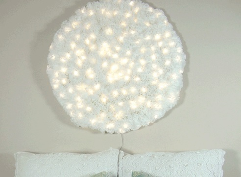 DIY Snowball wall light - Make your own light fittings