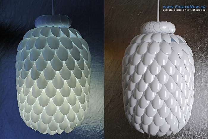 Plastic spoon DIY lamp - Make your own light fittings